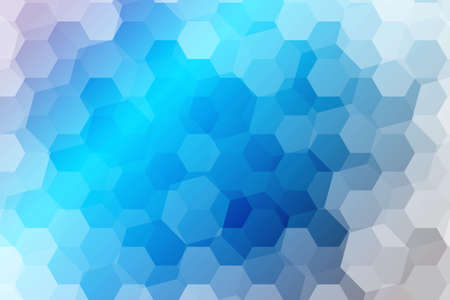 hexagons on a water blue color background. vector. geometric pattern with gradient. ideas for your business presentations, printing, design.