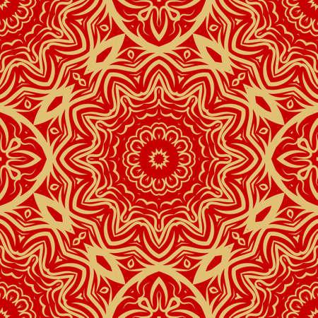 Modern floral vector ornaments. Decorative flower mandala. vector meditation illustration 矢量图像