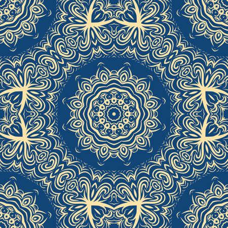 Modern floral vector ornaments. Decorative flower mandala. vector meditation illustration Stock Illustratie