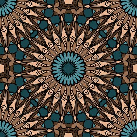 Papel pintado decorativo para diseño de interiores. Adorno floral geométrico moderno. Ilustración de vector transparente