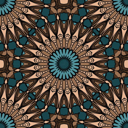 Decorative wallpaper for interior design. Modern geometric floral ornament. Seamless vector illustration Ilustracja