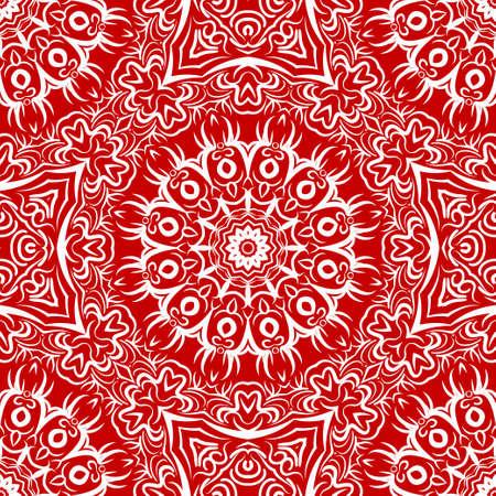 Modern strange floral ornament. Vector color mandala illustration, Designed for Web, Poster, Label and Other.