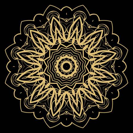 Vector silent mandala. Flower modern design. Vector illustration