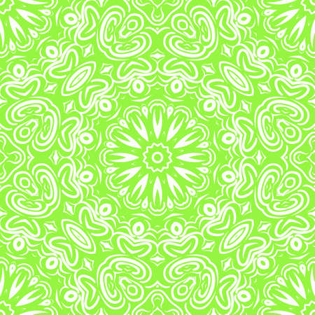 Unique, abstract floral color pattern. Seamless vector illustration. For design, wallpaper, background, ornament, bohemian print.