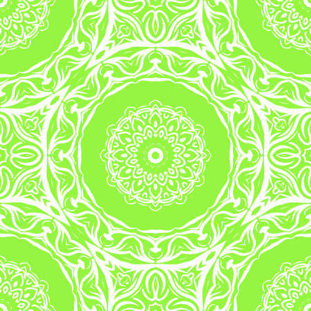 Modern strange floral ornament. Vector color mandala illustration, Designed for Web, Poster, Label and Other.