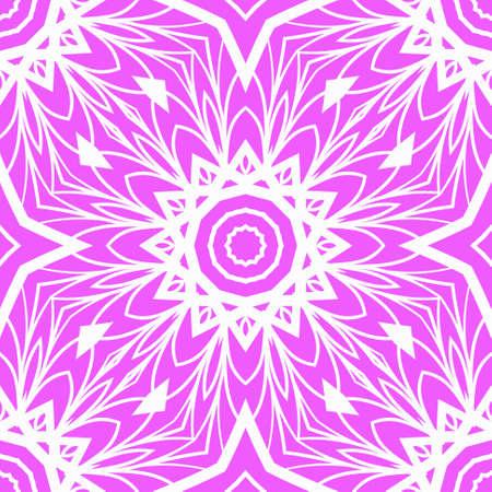Decorative Square Template for Fabric Print. Azhure floral seamless pattern. Vector illustration. For fabric, bandana, carpet, shawl textile design