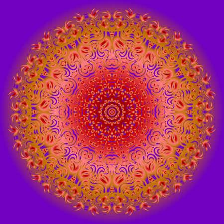 Galactic Mandala on a white background. Beautiful oriental, asian motives. Flower vector.