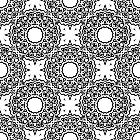 Beautiful tablecloth. Seamless lace pattern with geometric, floral element. Vector super illustration