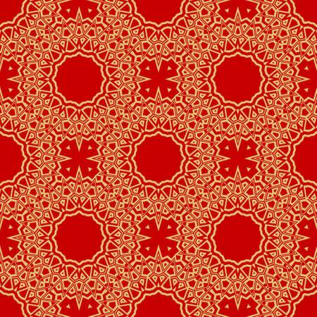 vector illustration. pattern with floral mandala, decorative border. design for print fabric, super bandana.