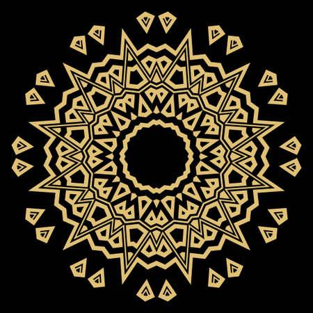 Mandala su uno sfondo. Bellissimi motivi orientali e asiatici. Vettore GEOMETRICO del fiore
