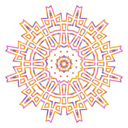 Modern floral vector ornaments. Fantastyc decorative flower mandala. vector illustration Ilustração