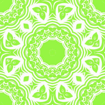 Decorative wallpaper for interior design. Modern geometric floral ornament. Seamless vector illustration.