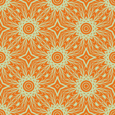 Illustrazione vettoriale. senza cuciture con mandala floreale, ornamento decorativo senza soluzione di continuità. design per tessuto stampato, bandana moderna