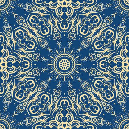 Seamless vector pattern. Geometric floral ornament. For Interior decoration, wallpaper, presentation, fashion design, dreaming print 矢量图像