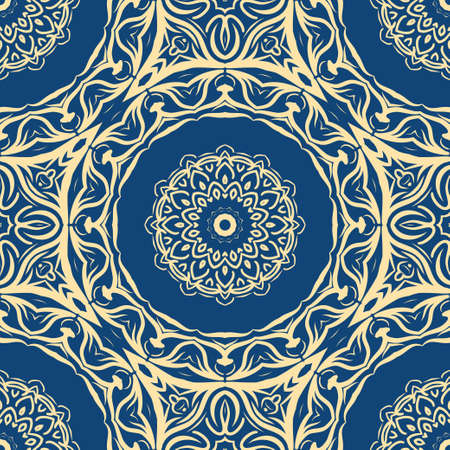 Seamless vector pattern. Geometric floral ornament. For Interior decoration, wallpaper, presentation, fashion design, dreaming print Illustration