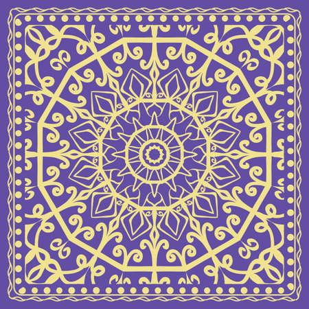 Fashion design Print with Mandala floral pattern. vector illustration for design