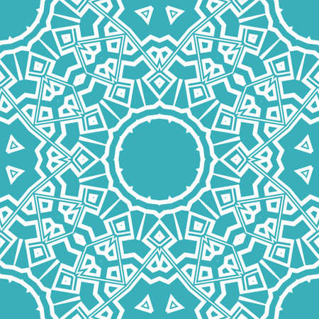 creative geometric ornament on color background. Seamless vector illustration. For finest interior design, wallpaper 向量圖像