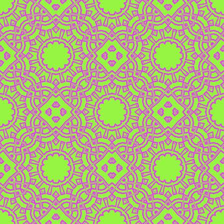 vector illustration. pattern with floral mandala, decorative border. design for print fabric, super bandana. 矢量图像