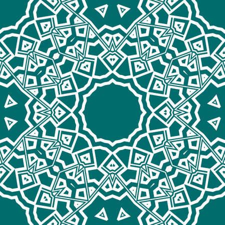 creative geometric ornament on color background. Seamless vector illustration. For finest interior design, wallpaper
