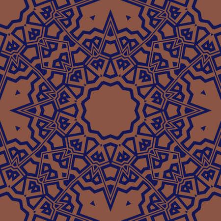 Super Beautiful round flower mandala. Vector illustration. Abstract.