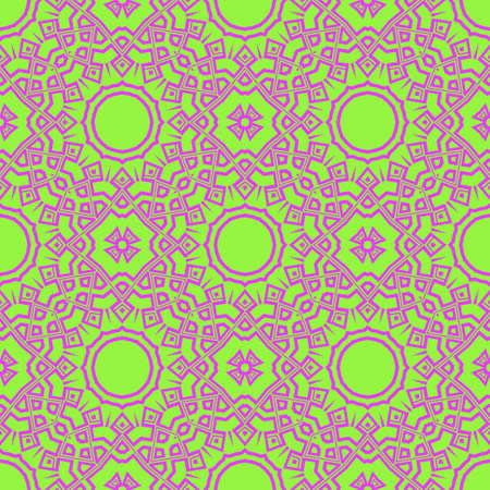 Seamless stylish vector illustration with geometric ornament pattern. Abstract design. For wallpaper, decorative design.