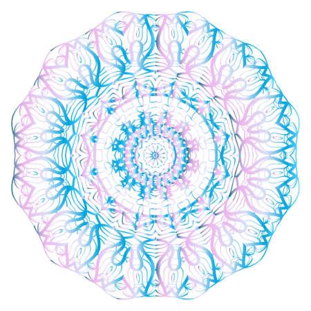 Round pattern flower mandala. circle floral ornament. Legend decorative vector illustration