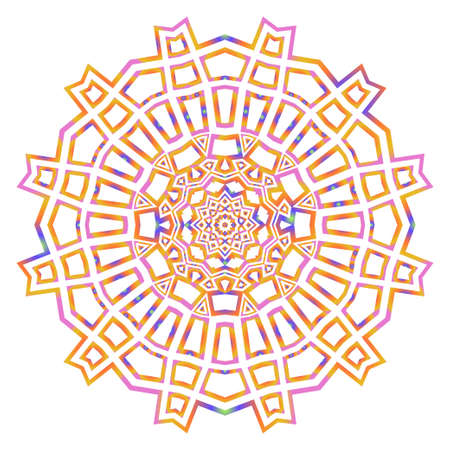 floral ornament mandala, decorative ornament. design for print fabric, tatto. vector
