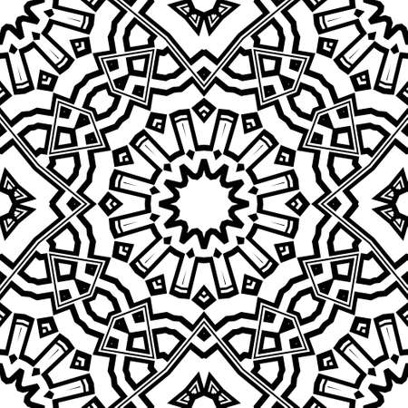 creative geometric ornament on color background. Seamless vector illustration. For beautiful interior design, wallpaper.