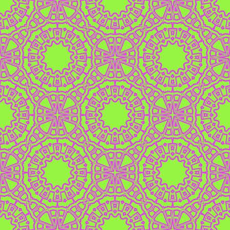 vector illustration. pattern with floral mandala, decorative border. design for print fabric, super bandana. Illustration