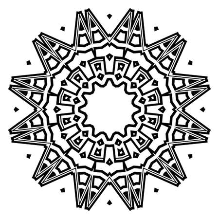 Mandala on a background. Beautiful oriental, asian motives. Flower GEOMETRIC vector