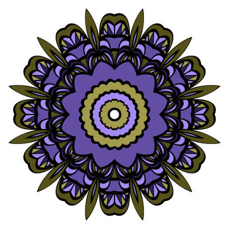Modern Decorative Cicle Vector Shapes. Floral mandala. Vector illustration