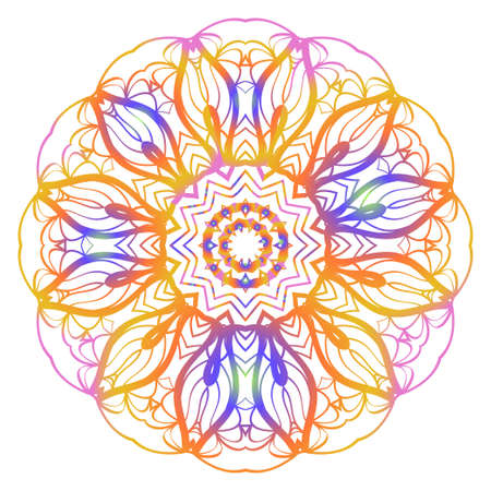 Super Creative floral mandala, decorative ornament. design for print fabric, tatto. vector