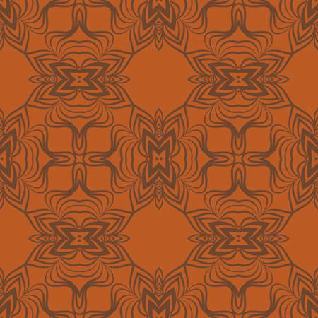 Vector pattern with stylish ornament. Floral seamless geometric design Illustration