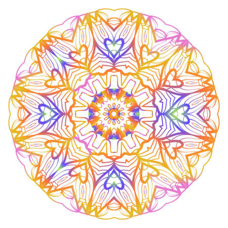 Super decorative round ornament. Anti-stress therapy pattern. Vector illustration for design