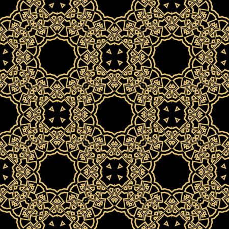 Motif de dentelle de couleur ronde pour paisley, fond de cercle avec un style floral. illustration vectorielle. couleur violet