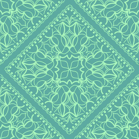 Fashion design Print with Mandala floral pattern. Vector illustration. color background