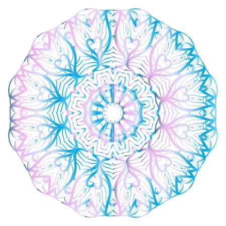 floral ornament mandala, decorative ornament. design for print fabric, tatto. vector