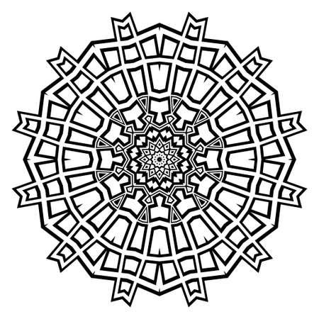 Modern floral vector ornaments. Fantastyc decorative flower mandala. vector illustration  イラスト・ベクター素材