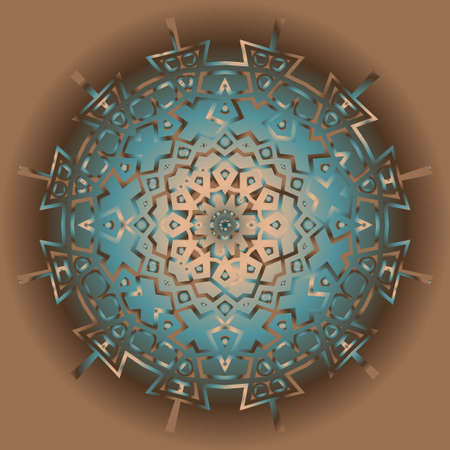 Gold Mandala. Vintage decorative elements. Hand drawn background. vector illustration