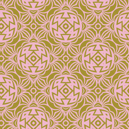 Vector pattern with stylish ornament. Floral seamless geometric design 向量圖像