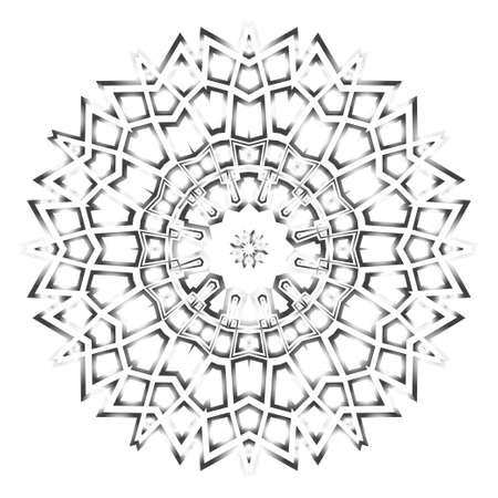 Flower historical mandala. Very printable decorative elements. Vector illustration for design