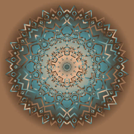 Astral Beautiful round flower mandala. Vector illustration. Abstract