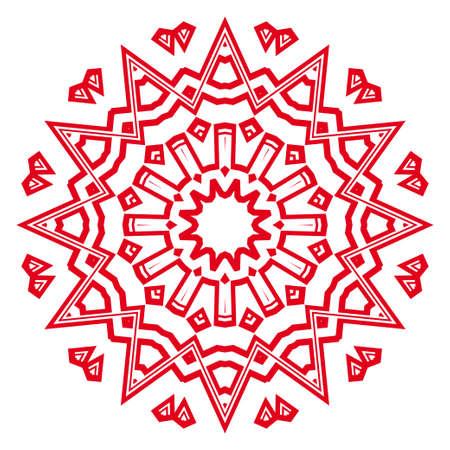 creative geometric ornament on color background. Seamless vector illustration. For interior design, wallpaper mandala