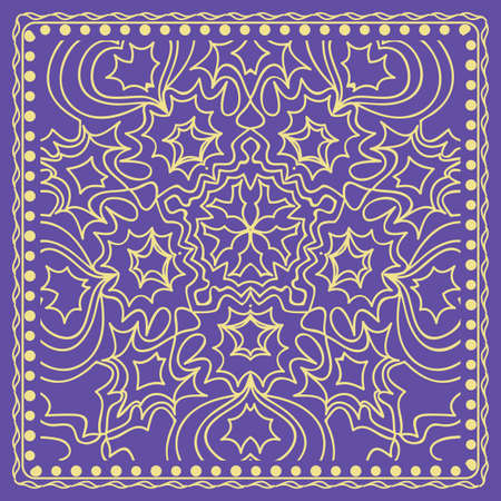 Floral pattern. modern vector illustration. hand drawn henna india tribal paisley background