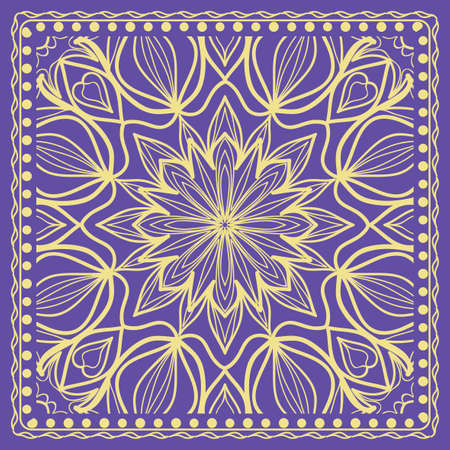 geometric floral background. Tribal ethnic ornate decoration. graphic vector illustration.