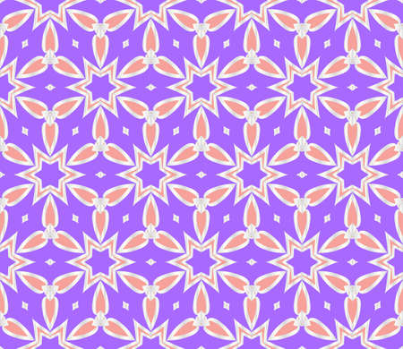 floral ornament. modern geometric pattern. Seamless vector illustration. for interior design, printing, wallpaper, fill pattern.