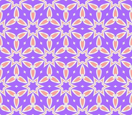 floral ornament. modern geometric pattern. Seamless vector illustration. for interior design, printing, wallpaper, fill pattern.