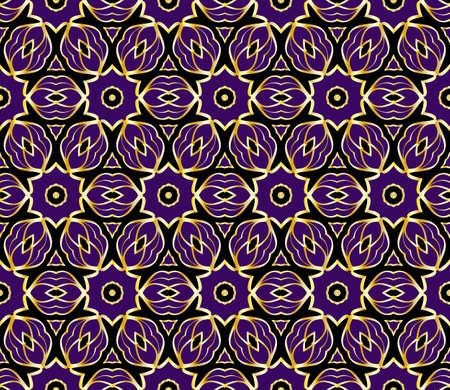 floral geometric ornament. seamless vector pattern. interior decoration, wallpaper, invitation, fashion design.