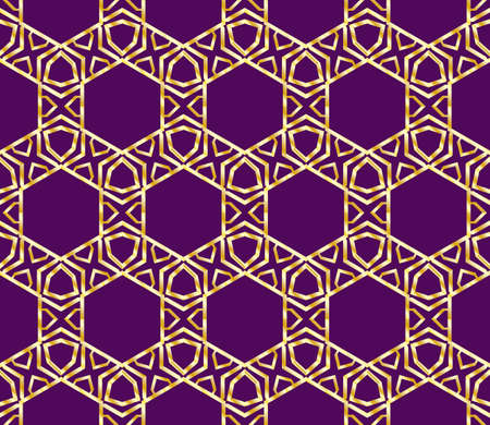 Seamless background pattern in geometric art-deco style. Vector illustration  イラスト・ベクター素材