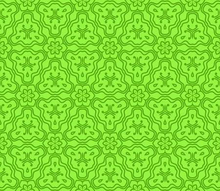 pattern of floral geometric elements. seamless pattern. Vector illustration. design for printing, presentation, textile industry. Green color.